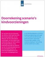 CPB: Doorrekening scenario's kindvoorzieningen
