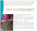 Een kunstproject met zand en gips